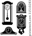 clock old retro vintage icon stock vector  31510283
