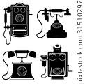 phone old retro vintage icon stock vector  31510297