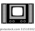 tv old retro vintage icon stock vector 31510302