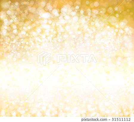 Vector bokeh, sparkle, golden background. 31511112