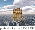 Scottish castle in the sea 31511397