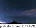 The starry sky and magellanic clouds 31511696