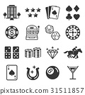 Casino icons. Vector illustrations. 31511857