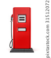 3d rendering of red gas pump in front view 31512072