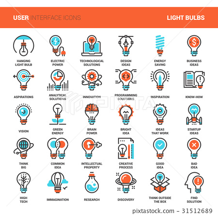 Light bulbs icons 31512689