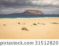 A view of Playa de Las Conchas, a beautiful  31512820