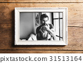 Picture of father holding baby daughter. Fathers 31513164