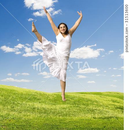 jumping woman 31513600