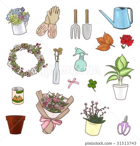 园艺 花瓶 手套 31513743