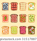 Slices of sandwich bread and butter toast with 31517887
