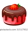 Vector illustration, icon decorative cake with 31517932