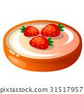 Vector illustration, icon decorative cake with 31517957