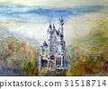 新天鵝堡城堡手繪草圖灰姑娘城堡 31518714