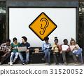 Show Ear Listen Hear Deaf Sign 31520052