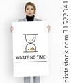 Hourglass Sandglass Timer Icon Word 31522341