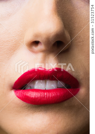 Close up of lips with makeup on them 31523754