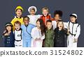 Group of Diverse Kids Wearing Career Costume Studio Portrait 31524802