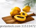 papaya, papayas, fruit 31533472