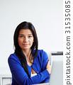 woman, notebook, office 31535085