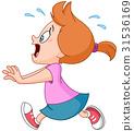 Running panic girl 31536169