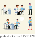 Doctor and patient character activity set vector 31536179