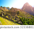 Ancient Inca City of Machu Picchu illuminated by 31536801