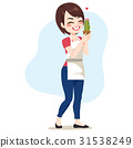 Woman Holding Cactus 31538249