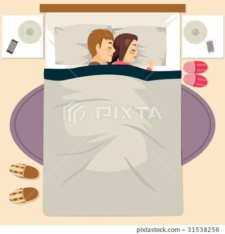 Couple Sleeping Happy Together 31538256