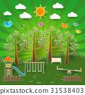 Kids playground. Vector illustration. 31538403