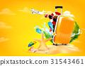 vector, travel, starfish 31543461