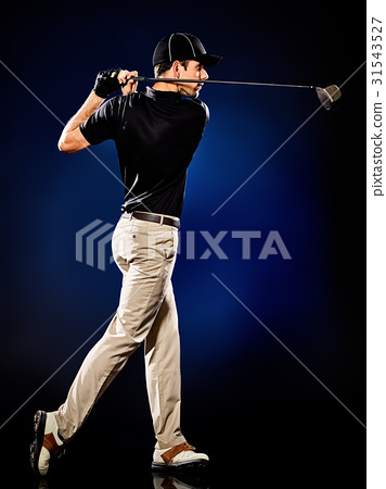 man  golfer golfing isolated 31543527