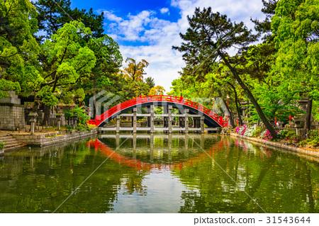 Drum Bridge in Osaka 31543644