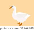 White goose, flat design 31544509