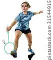young teenager girl woman Badminton player 31544915
