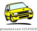 80年代風 国産ハッチバック 黄色 31545028