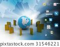 File folders around Earth 31546221