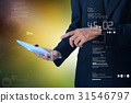 Business man checking time  on the digital tablet 31546797