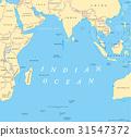 Indian Ocean political map 31547372