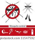 Mosquito control tools icons set. 31547592