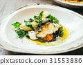Seabass or Barramundi fish meat steak 31553886