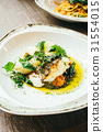 Seabass or Barramundi fish meat steak 31554015