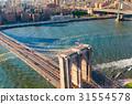 Brooklyn Bridge over the East River in New York 31554578