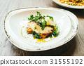 Seabass or Barramundi fish meat steak 31555192