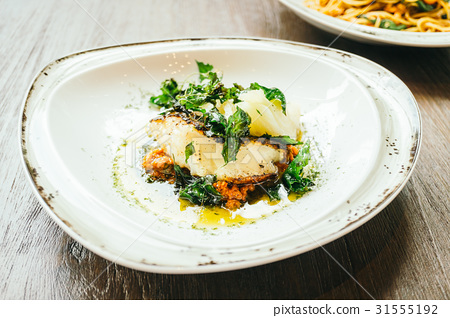 Seabass or Barramundi fish meat steak 31555192