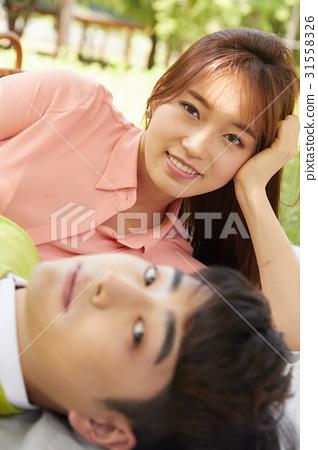 커플,일산호수공원,일산,고양시,경기도 31558326