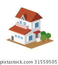 独立式住宅 房子 三维 31559505