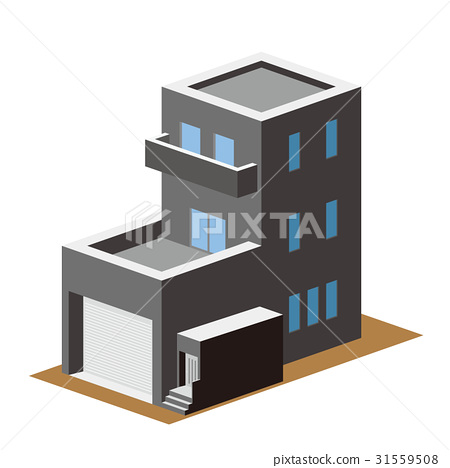 3D Building Residential home 7 - Stock Illustration