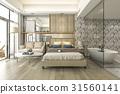 bathtub, bedroom, hotel 31560141