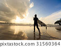 silhouette surf Board 31560364