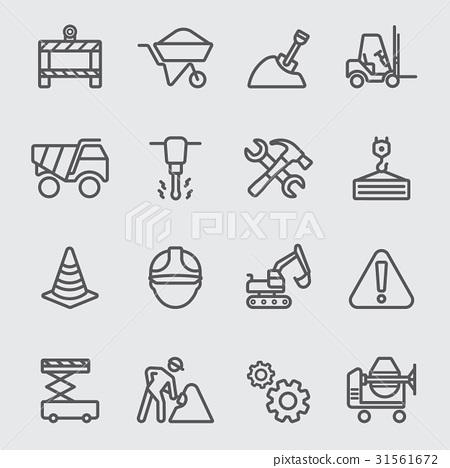 Construction line icon 31561672